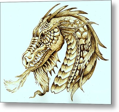 Horned Dragon Metal Print by Danette Smith