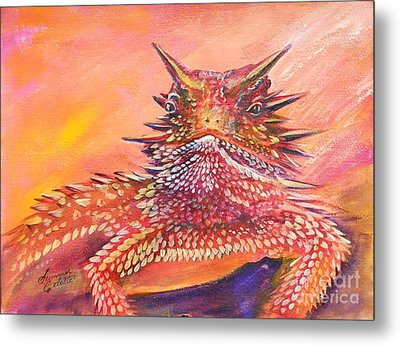 Horny Toad Metal Print by Summer Celeste