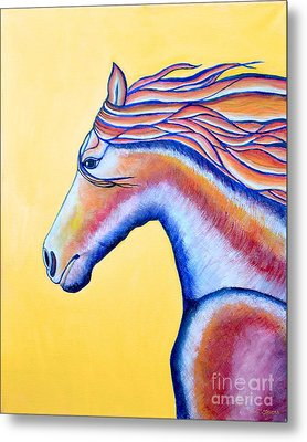 Metal Print featuring the painting Horse 1 by Joseph J Stevens