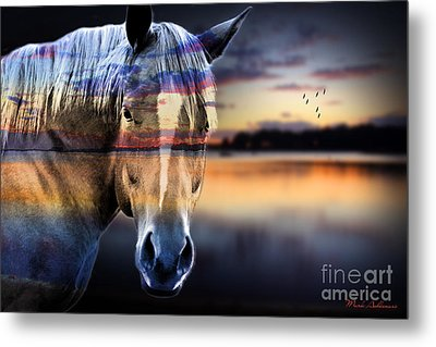 Horse 6 Metal Print by Mark Ashkenazi