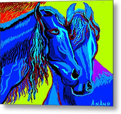Horse-7 Metal Print by Anand Swaroop Manchiraju