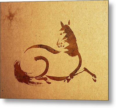 Horse Metal Print by Aged Pixel