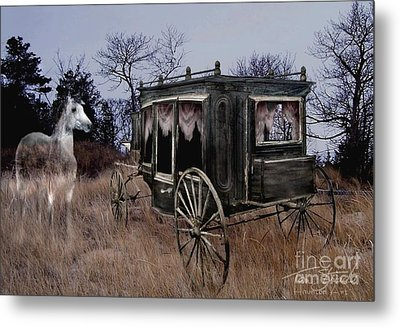 Horse And Carriage Metal Print by Tom Straub