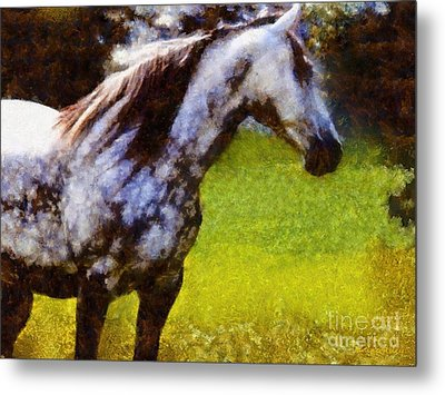 Horse And I Will Wait For You Metal Print by Janine Riley
