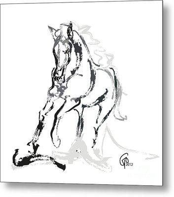 Horse- Andalusian Angel Metal Print by Go Van Kampen