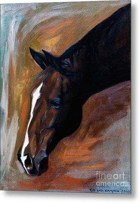 horse - Apple copper Metal Print by Go Van Kampen