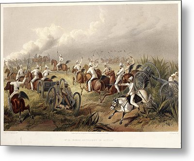 Horse Artillery In Action Metal Print by British Library