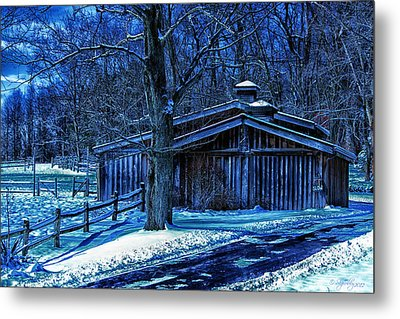 Metal Print featuring the photograph Horse Barn by Skip Tribby