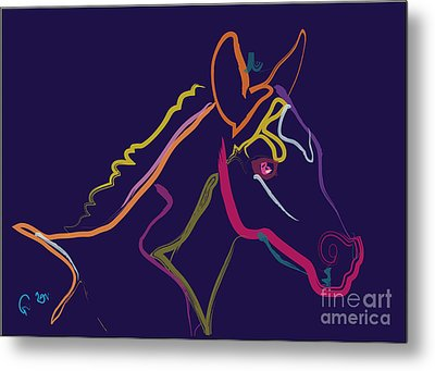 Horse - Colour Filly Metal Print