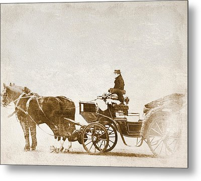 Horse-drawn Carriage Metal Print by Heike Hultsch