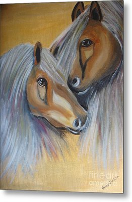 Horse Duo Metal Print by Saranya Haridasan