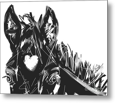 horse foal Bless you with love Metal Print by Go Van Kampen