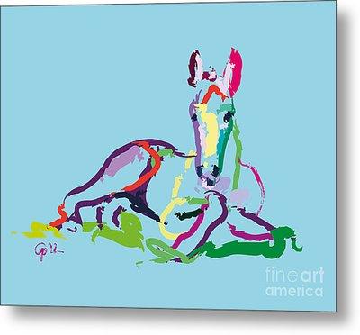 Horse - Foal - Sweetie Metal Print