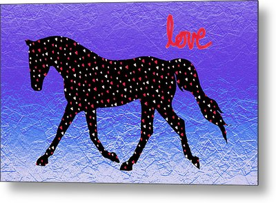 Horse Hearts And Love Metal Print