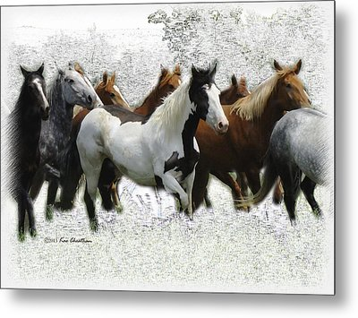 Horse Herd #3 Metal Print