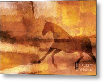 Horse Image Metal Print by Lutz Baar