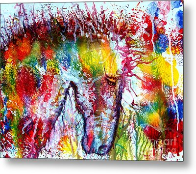 Horse In Abstract Metal Print by Anastasis  Anastasi