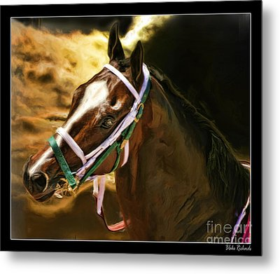 Horse Last Memories Metal Print by Blake Richards