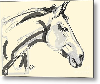 Horse - Lovely Metal Print by Go Van Kampen
