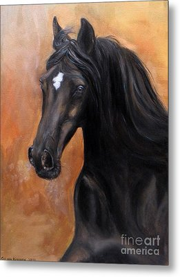 Horse - Lucky Star Metal Print by Go Van Kampen