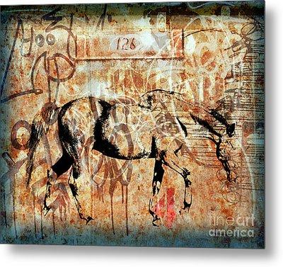Horse One Twenty Six Metal Print by Judy Wood