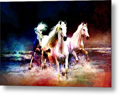 Horse Paintings 002 Metal Print by Catf