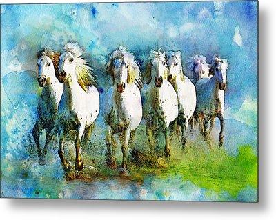Horse Paintings 006 Metal Print by Catf