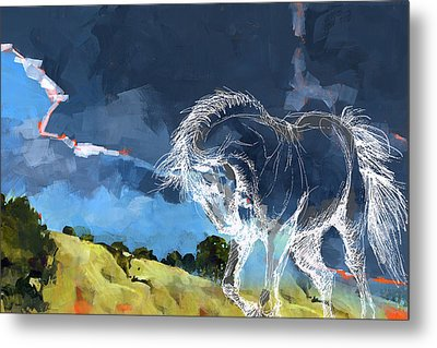 Horse Paintings 012 Metal Print by Catf