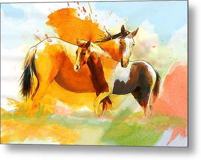 Horse Paintings 013 Metal Print by Catf
