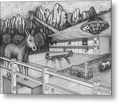 Horse Perspective Metal Print