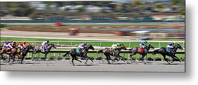 Metal Print featuring the photograph Horse Racing by Christine Till