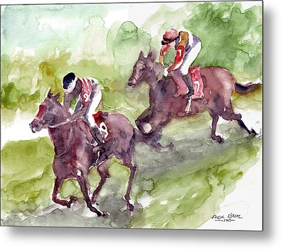 Horse Racing Metal Print by Faruk Koksal