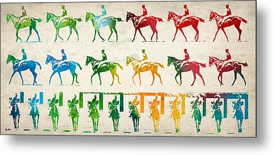 Horse Rider Locomotion Metal Print by Aged Pixel