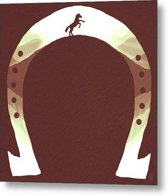 Horse Shoe Metal Print by Daniel Hapi