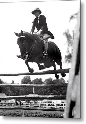 Horse Show Jump Metal Print by Underwood Archives