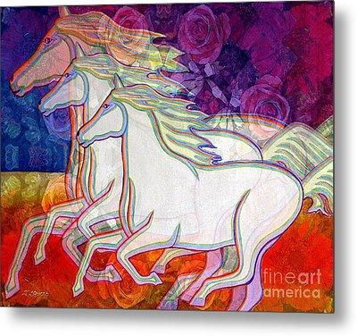 Horse Spirits Running Metal Print