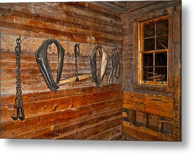 Horse Stable Metal Print by Frozen in Time Fine Art Photography