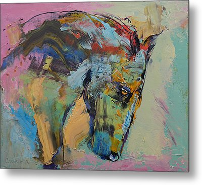 Horse Study Metal Print by Michael Creese
