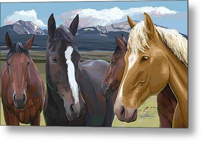 Horse Talk Metal Print