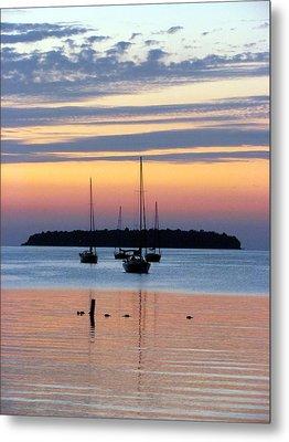 Horsehoe Island Sunset Metal Print by David T Wilkinson