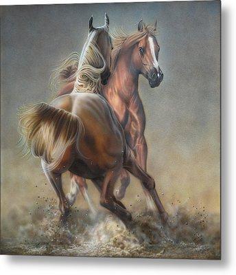 Horseplay Metal Print