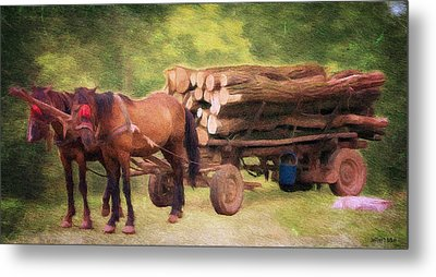 Horsepower Metal Print by Jeff Kolker