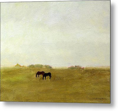 Horses Afield Metal Print by J Reifsnyder
