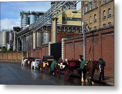 Horses And Carriages Metal Print by Panoramic Images