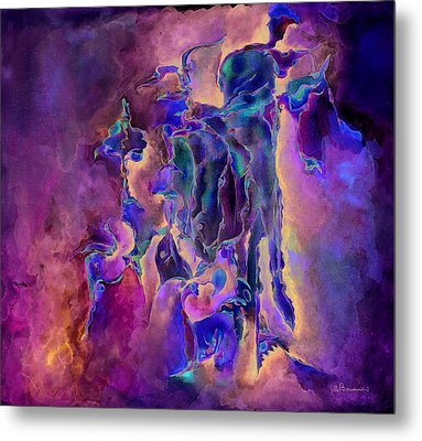 Horses Metal Print by Bodhi