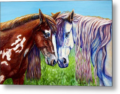 Horses Frolicking  Metal Print