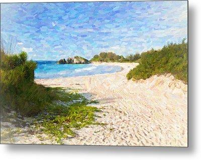 Horseshoe Bay In Bermuda Metal Print