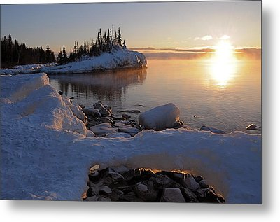 Horseshoe Bay Island Sunrise At Minus 20 Metal Print by Sandra Updyke