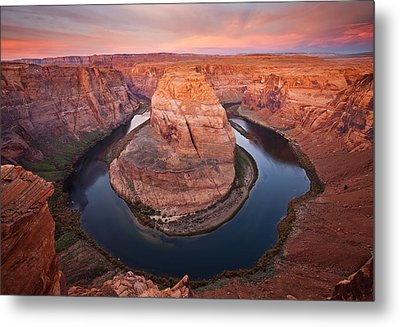 Horseshoe Dawn Metal Print by Mike  Dawson