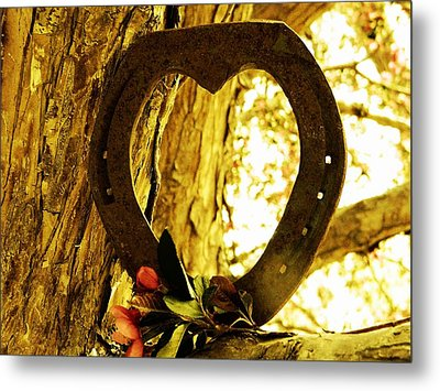 Horseshoe Love Metal Print